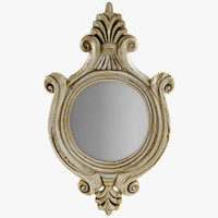 Antique Round Wall Mirror